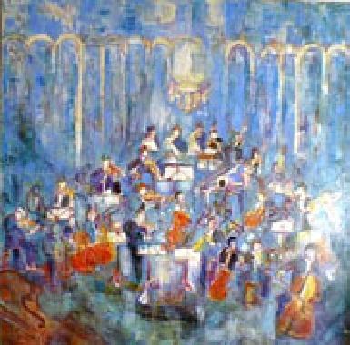 Titre: Symphonie en bleu, Artiste: Monnet, Madeleine