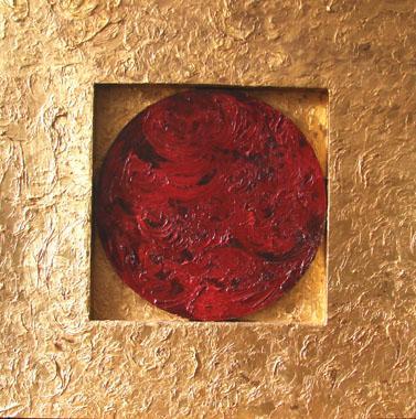 Titre: Grenat sur Or, Artiste: Maya,