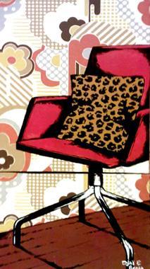 Titre: Red chair, Artiste: Djaï et Benja,