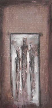 Titre: L homme et l écriture I, Artiste: Van Vaerenbergh, Carine