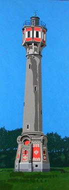 Titre: phare de Heist, Artiste: Dumont, Michel