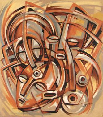 Titre: Les quatres visages, Artiste: NKanza et Lukodisa,